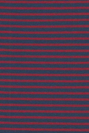 Hil-Tex Streifen - Dunkelblau/Rot