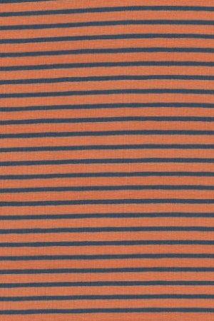 Hil-Tex Streifen - Orange/Dunkelblau