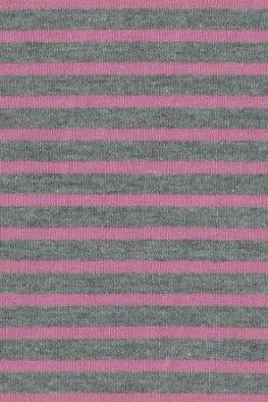 Hil-Tex Streifen Grau-rosa