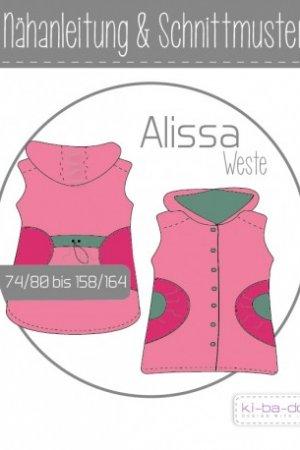 Kinder Weste Alissa 74/80 bis 158/164
