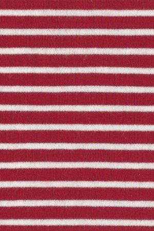 Hil-Tex Streifen - Weiss/Rot
