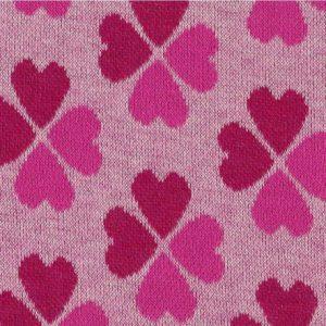 Hamburger Liebe - Tender Kiss - Kleeherzen rosa