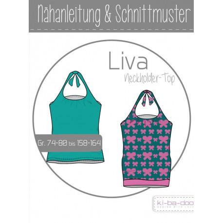Neckholder-Top LIVA 74-80 bis 158-164