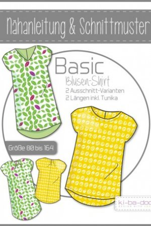 Kinder Basic Blusen-Shirt 80 - 164