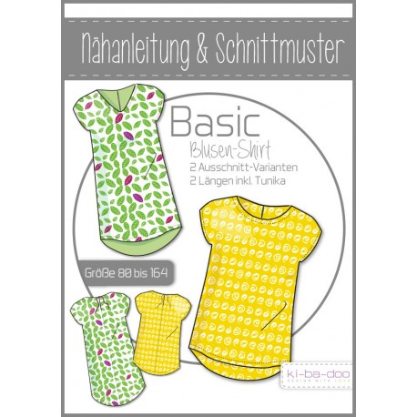 Kinder Basic Blusen-Shirt 80 - 164